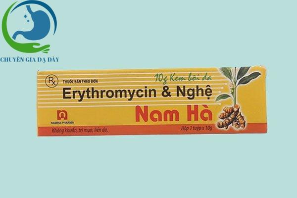 Hộp thuốc Erythromycine & Nghệ Nam Hà
