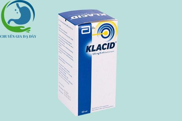 Hộp thuốc Klacid