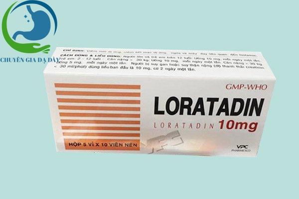 Hộp thuốc LORATADIN