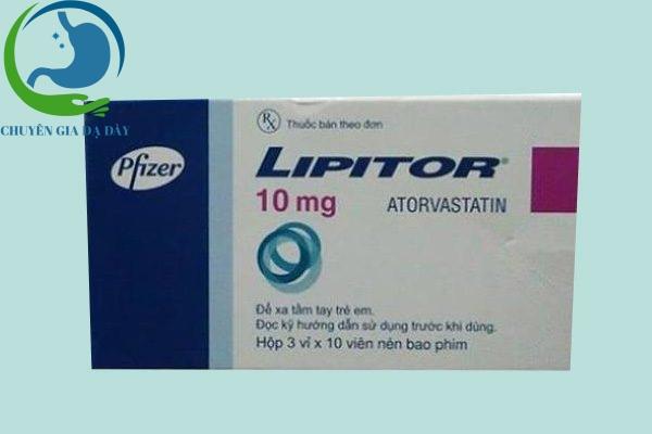 Hộp thuốc Lipitor