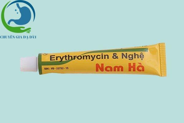 Tuýp thuốc Erythromycine & Nghệ Nam Hà
