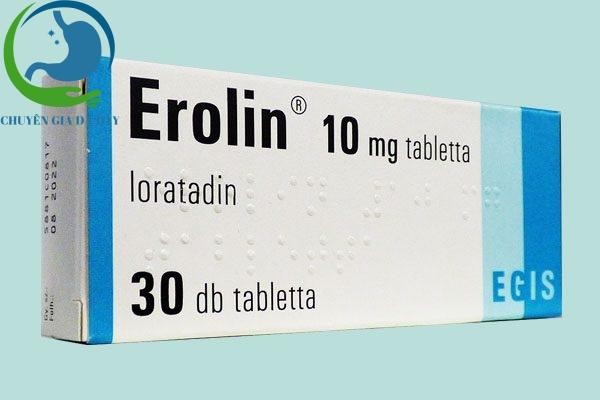 Hộp thuốc Erolin 10mg