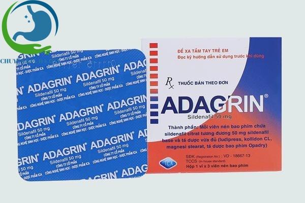 Thành phần thuốc Adagrin 50mg