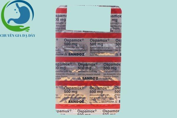 Thành phần thuốc Ospamox 500mg