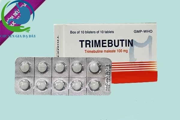 Trimebutine 100mg thuộc nhóm thuốc đường tiêu hóa