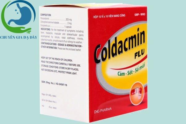 Hộp thuốc Coldacmin