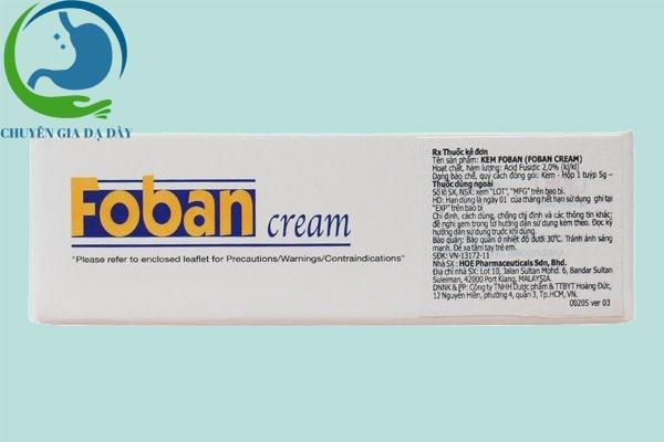 Thông tin Foban cream