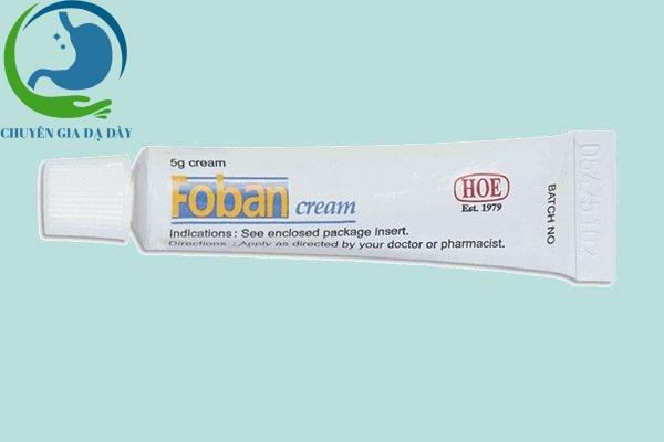 Tuýp Foban cream