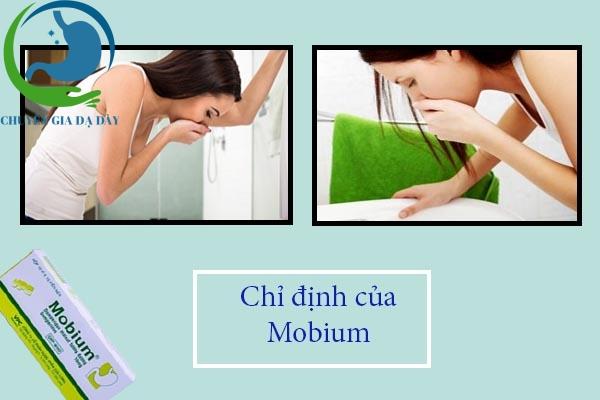 Chỉ định của thuốc Mobium