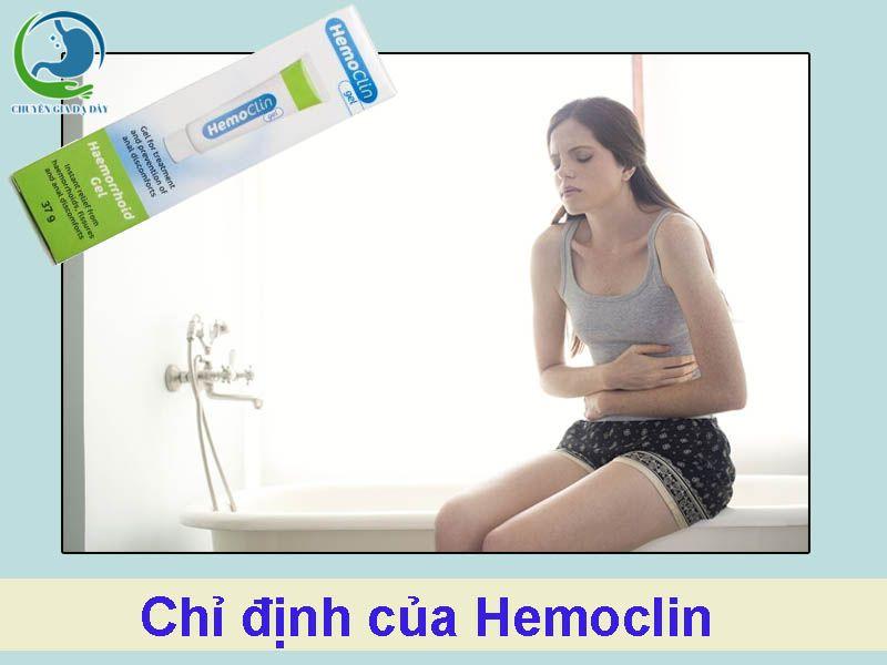 Chỉ định của thuốc Hemoclin