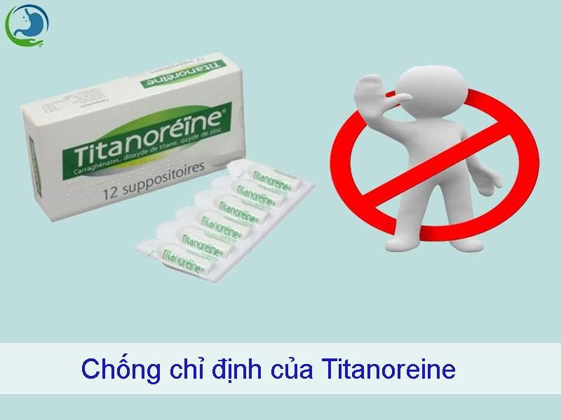 Chống chỉ định của Titanoreine