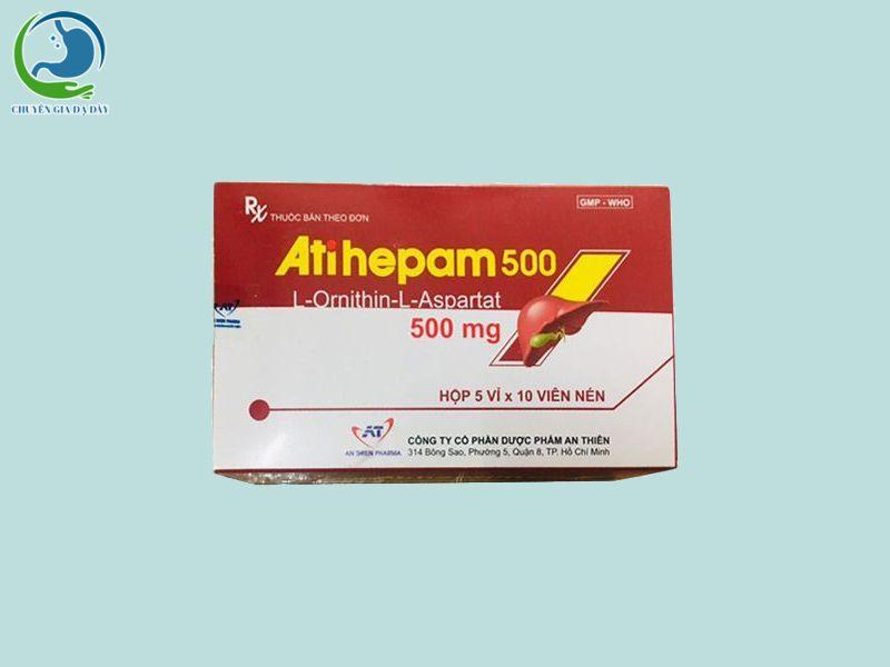 Hộp thuốc Atihepam 500