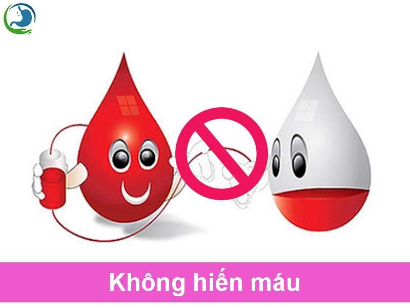 Nam và nữ không hiến máu trong quá trình sử dụng thuốc