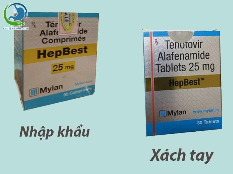 Cách nhận biết thuốc Hepbest xách tay và nhập khẩu