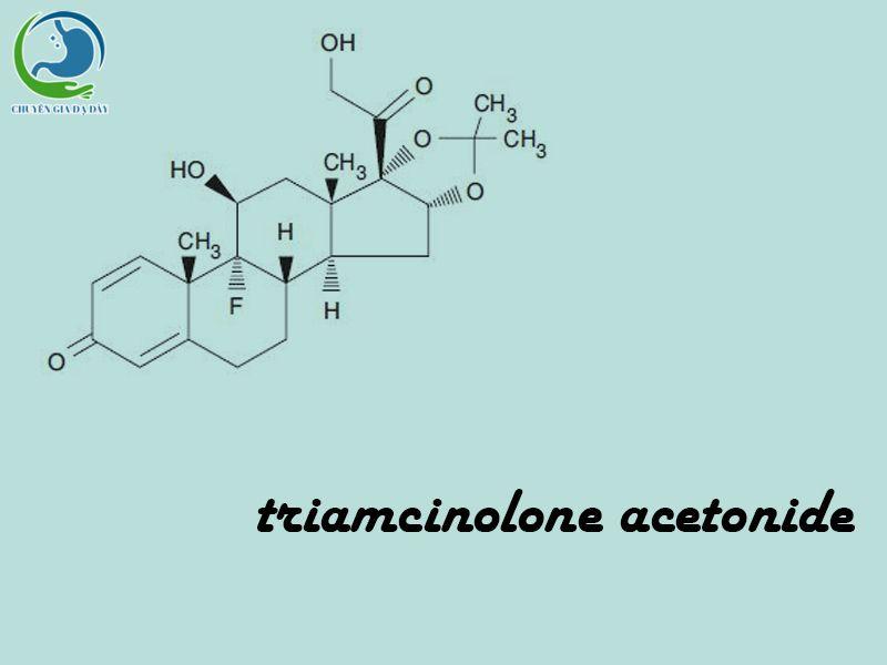 Công thức hóa học của Triamcinolone acetonide