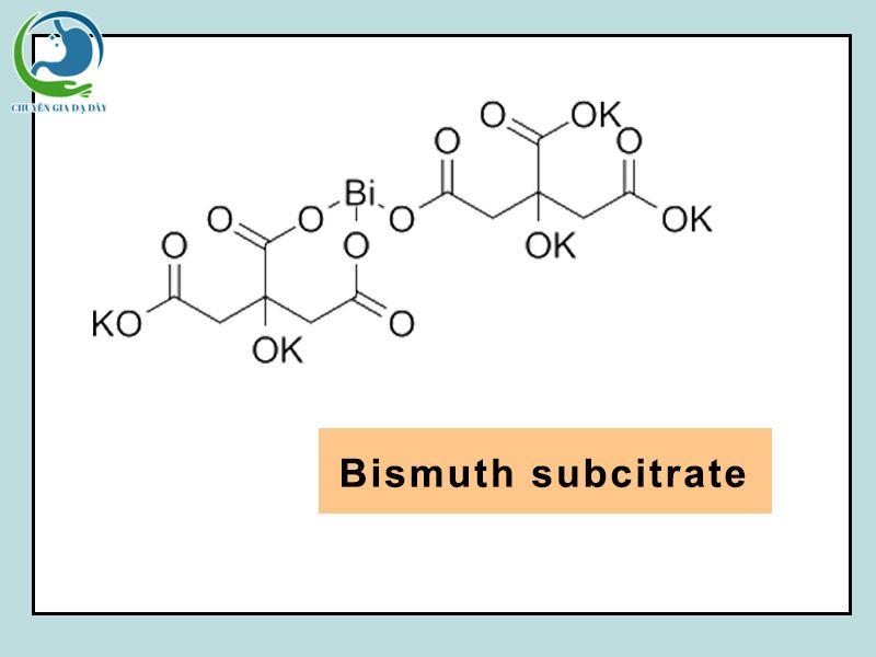 Cấu trúc hóa học của Bismuth Subcitrate