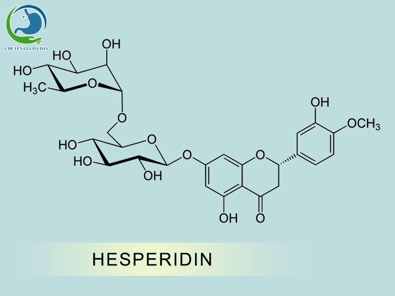 Cấu trúc hóa học của Hesperidin