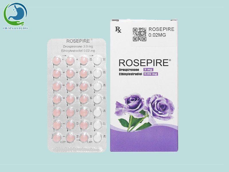 Hộp và vỉ thuốc Rosepire tím