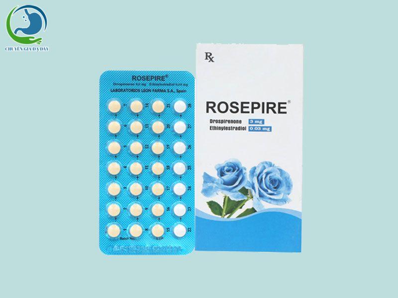 Hộp và vỉ thuốc Rosepire xanh