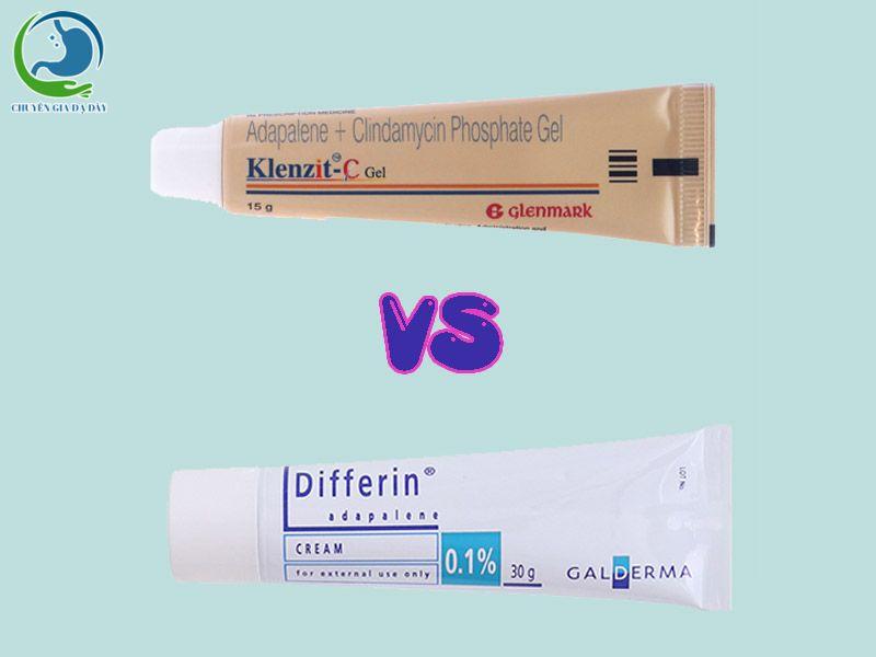 So sánh thuốc trị mụn Differin và Klenzit C