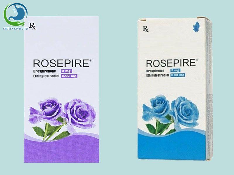 Thuốc tránh thai Rosepire xanh và tím