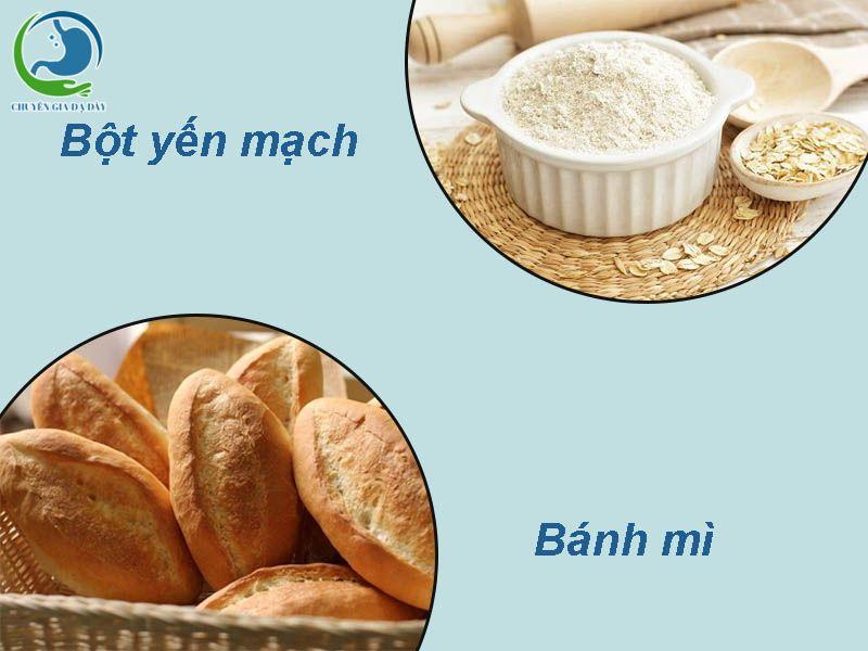 Bánh mì, bột yến mạch