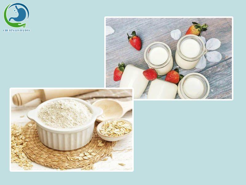 Sữa chua kết hợp yến mạch chữa trào ngược dạ dày