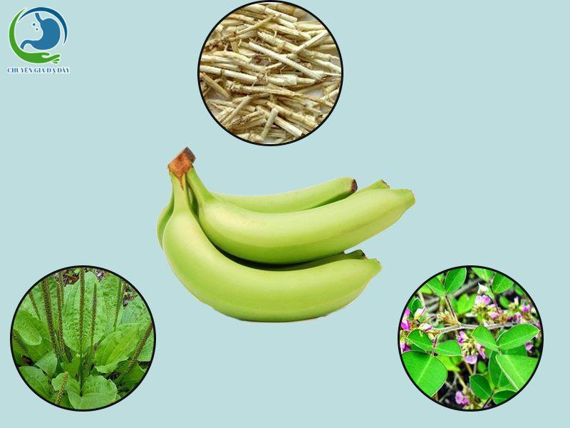 Chuối tiêu xanh và các loại thảo mộc chữa trào ngược dạ dày