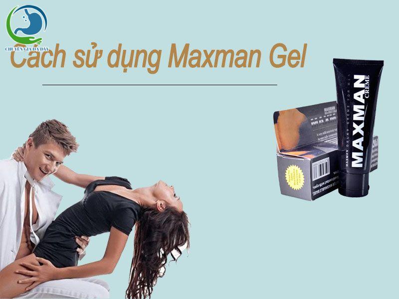 Cách sử dụng Maxman Gel