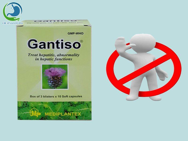 Chống chỉ định của Gantiso