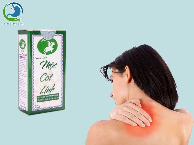 Mộc Cốt Linh sử dụng cho các đối tượng bị đau mỏi vai gáy