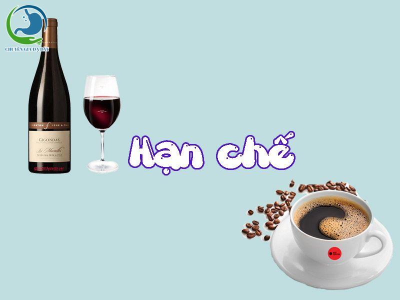 Hạn chế uống rượu, cà phê