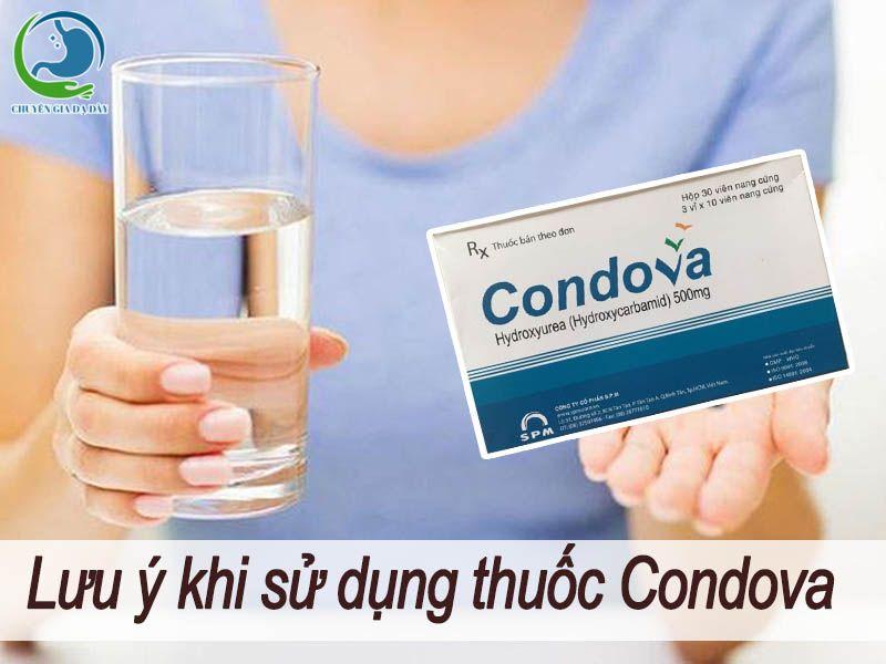 Lưu ý khi sử dụng thuốc Condova