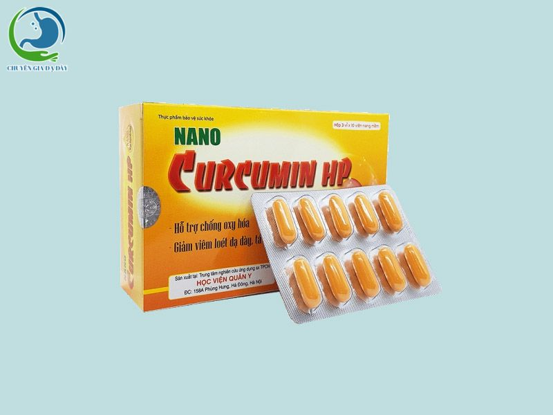 Thuốc chống trào ngược dạ dày Nano Curcumin HP