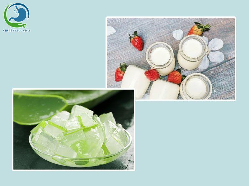 Ăn sữa chua với nha đam trị trào ngược dạ dày