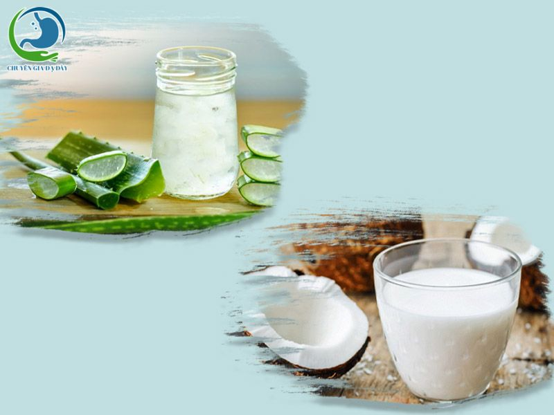 Giảm trào ngược dạ dày hiệu quả bằng nha đam và nước cốt dừa