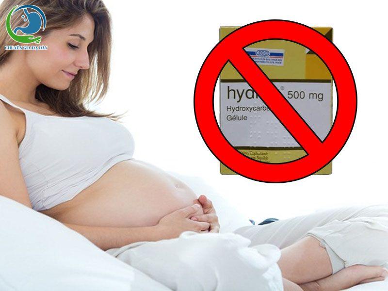 Thuốc Hydrea chống chỉ định với phụ nữ có thai và cho con bú