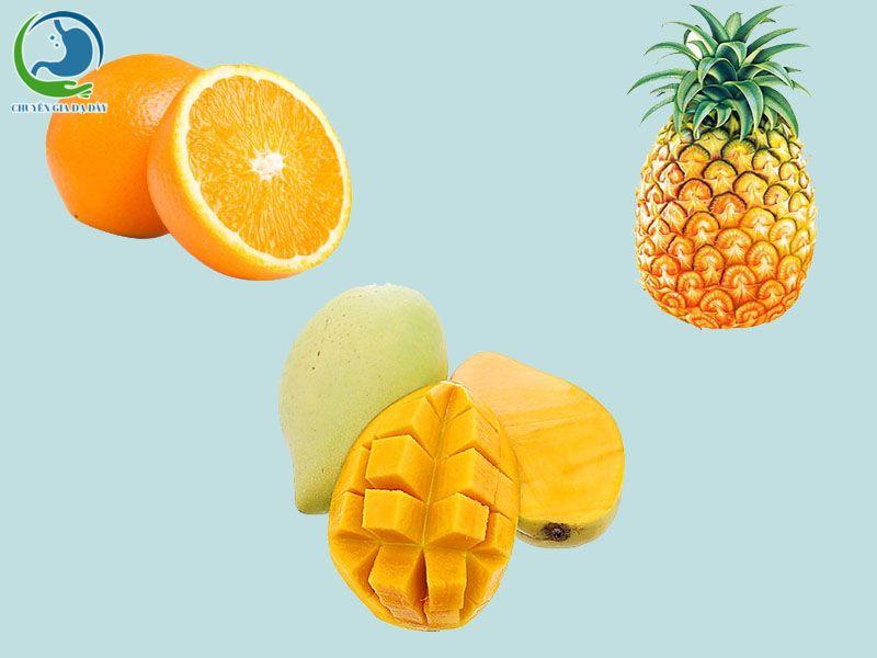 Hoa quả chứa nhiều axit