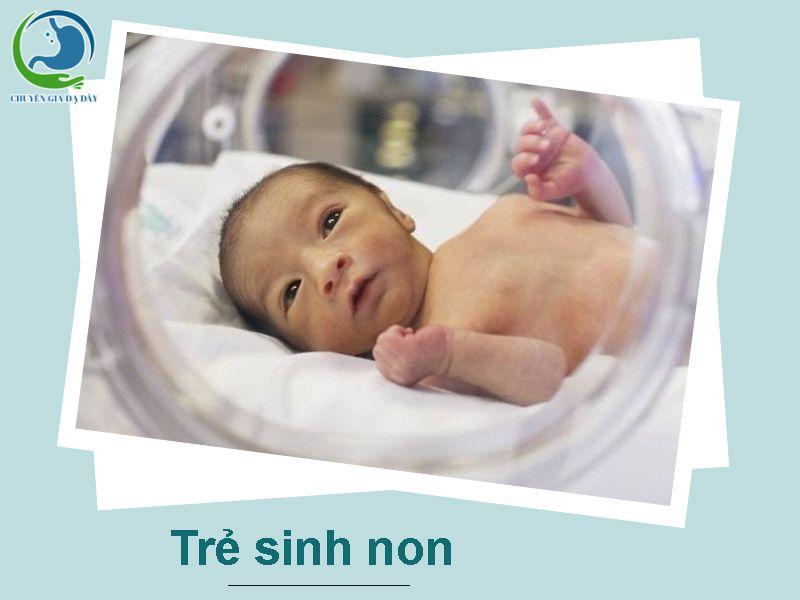 Trẻ sinh non có thể khiến trẻ bị trào ngược dạ dày thực