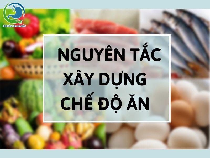 Nguyên tắc xây dựng chế độ ăn