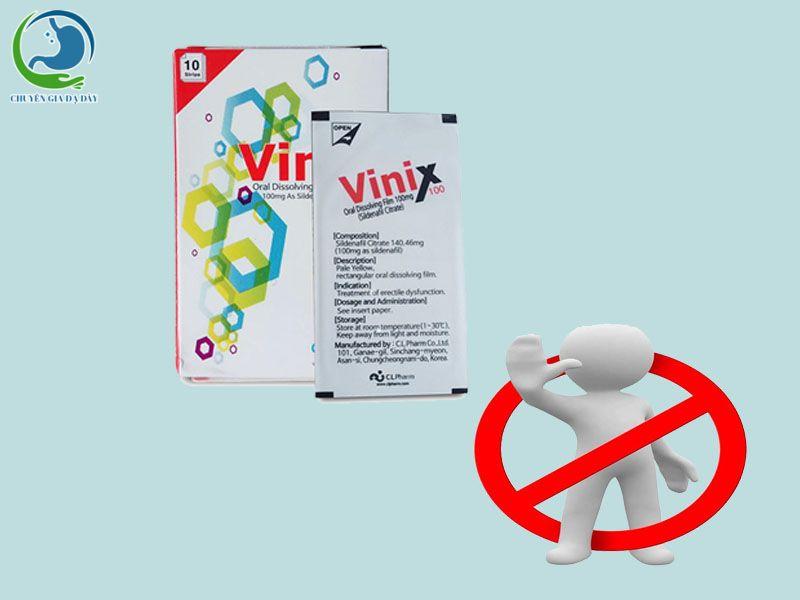 Chống chỉ định của Vinix 50