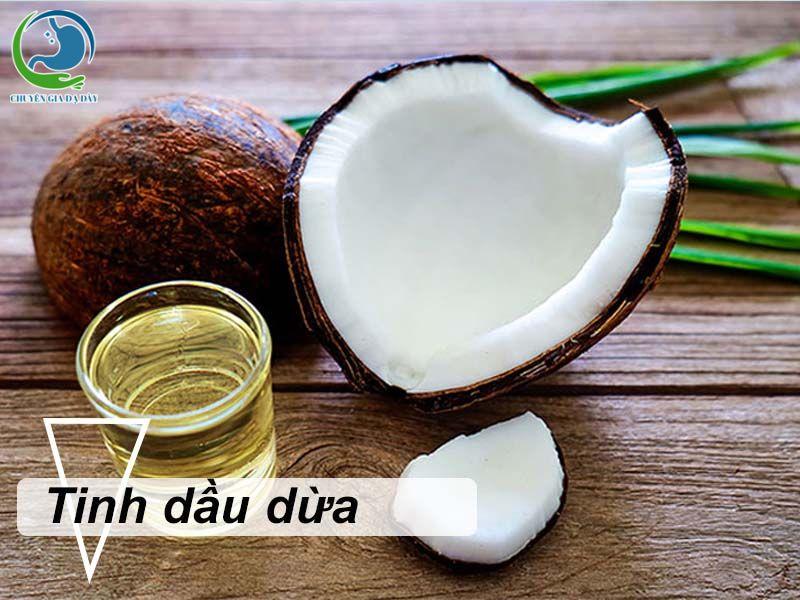 Chữa trào ngược dạ dày bằng tinh dầu dừa