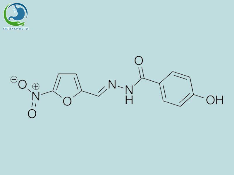 Công thức hóa học của Nifuroxazide