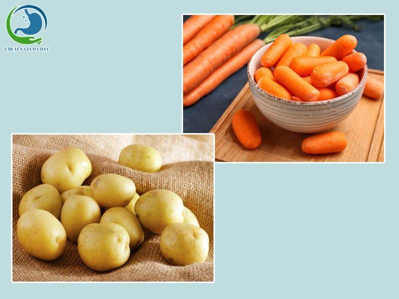 Cháo cà rốt-khoai tây chữa tiêu chảy