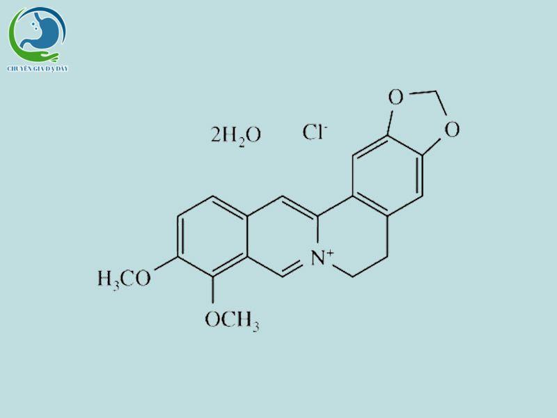 Công thức hóa học của Berberin clorid