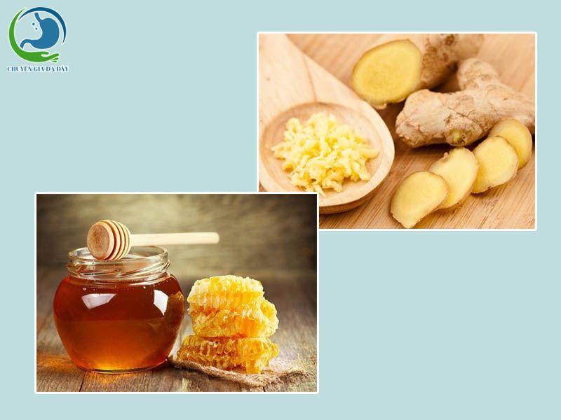 Gừng kết hợp với mật ong trị tiêu chảy