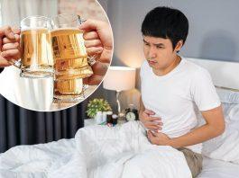 Uống rượu bia bị tiêu chảy
